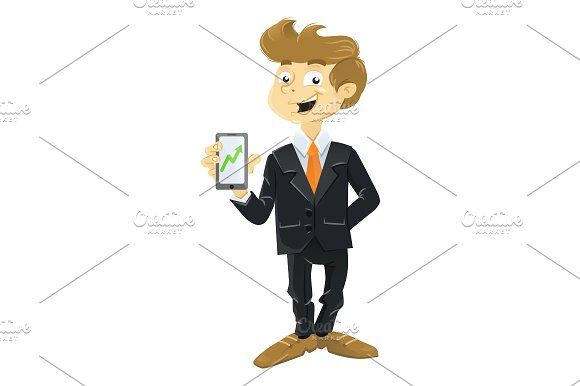 Young business man with mobile phone by SuperAccurate on @creativemarket
