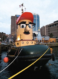 """It's Hipster Theodore! """"Cruising the Halifax Harbor is so mainstream. I sailed the harbor before it was cool."""""""