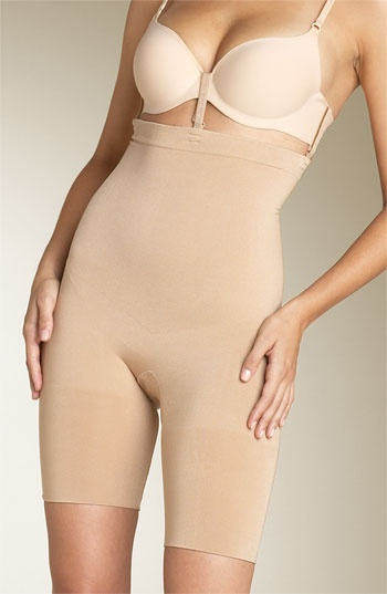 Spanx Slim Cognito..... attaches to your own bra to smooth the stomach, back and bottom half. Yes please!