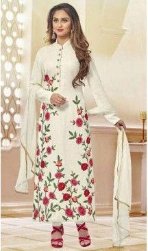 Net Fabric Straight Cut Churidar Suit in White Color | FH520178969 #heenastyle , #salwar , #kameez , #suits , #anarkali , #party, #wear , #panjabi , #patiyala , #abaya , #style , #indian , #fashion , #designer , #bridel , #evening , #formal , #office , #deaily , #dupatta , #churidar , #palazo , #plazzo , #nerrow , #pant , #dress , #dresses , #fashion , #boutique , #mode , #henna , @heenastyle , #latest , #gowns , #pakistani , #readymade , #stitched , #plus , #size , #islamic