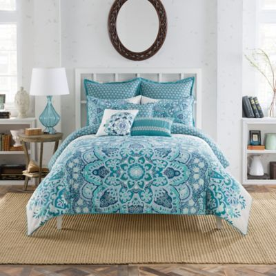 Anthology® Kaya Reversible Comforter Set in Blue - BedBathandBeyond.com
