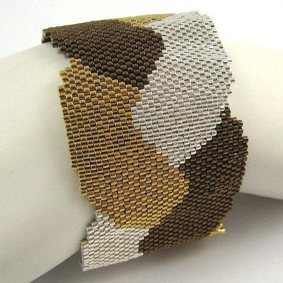 Treccia metalli Redux Peyote bracciale / bracciale 2548