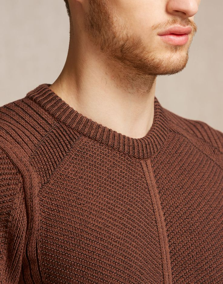 Coniston Jumper - Burnt Orange Cotton Knitwear