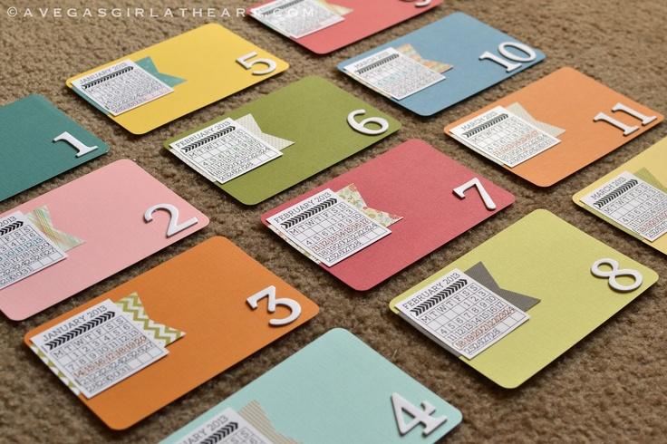 Diy Calendar Card : Projectlife tutorial for diy mini calendar journal