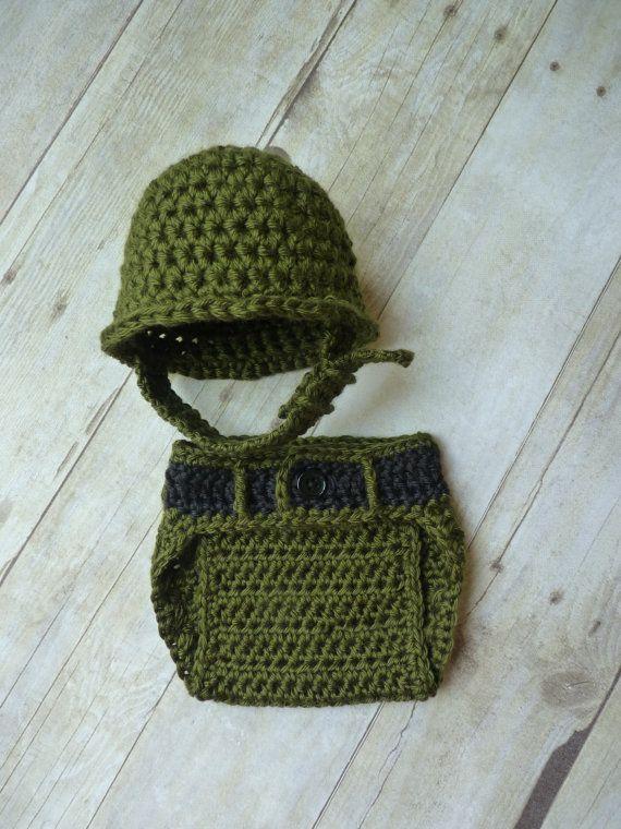 Custom Crochet Little Military Set by CricketCreations on Etsy, $40.00