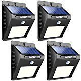 #10: Solar Outdoor Patio Deck Lights 25 LED  Outside Motion Sensor Security Sun Powered Lighting For Yard Backyard Pathway & Driveway 4 Pack