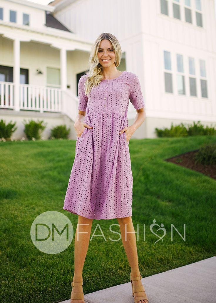 d47f1cd2b80c LEIGHTON - Lavender Eyelet Lace Dress, NURSING FRIENDLY, bridesmaid dresses,  maternity dress,