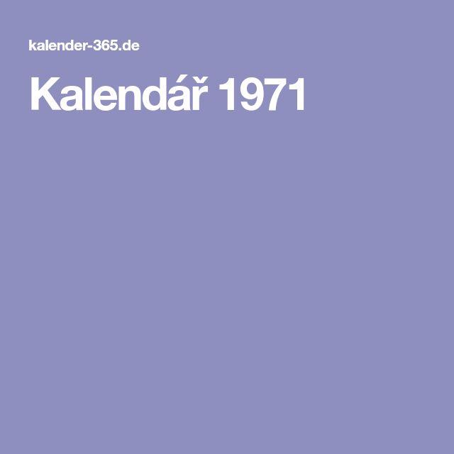 Kalendář 1971