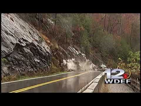 CAUGHT ON CAMERA: Rock Slide Closes TN Highway 64 in Polk Co - Liquifaction may have played a role in this landslide of rock and rubble that blocks the road.  The road crews knew enough to get out of the way in time.