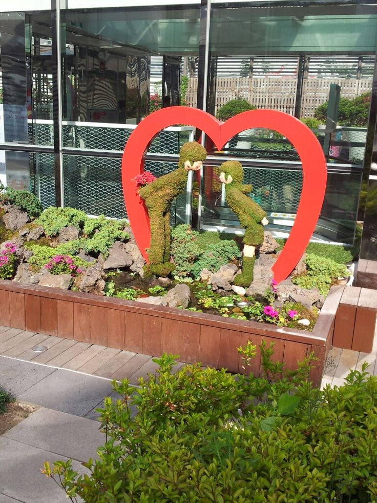 Captured at a rooftop garden of a Lotte mall, Seoul. So cute!