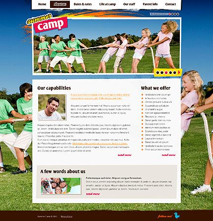 Summer Camp Website Templates by Svelte