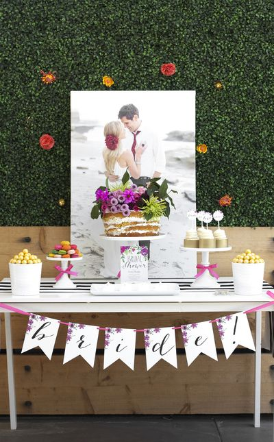 Have you considered a garden party for your bridal shower? If not, take a look at this Garden in Bloom Bridal Shower inspiration set and it might just win you over.