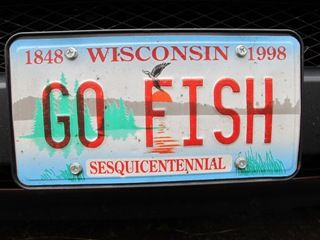 17 best images about fishy license plates on pinterest for How much is a wisconsin fishing license