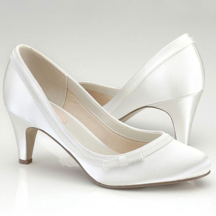 Chaussures mariage ivoire talon moyen - Instant Précieux
