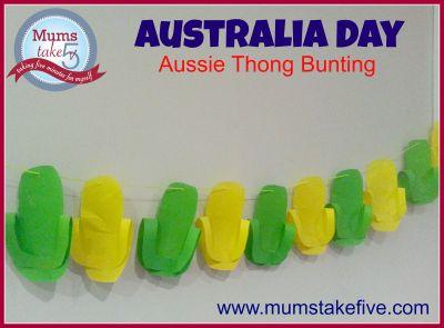 Australia Day Bunting Craft