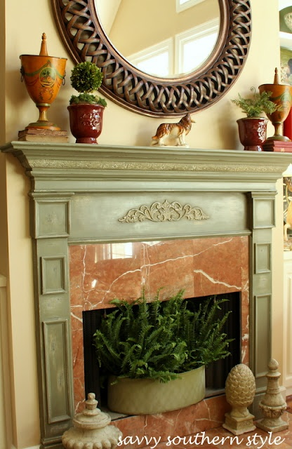Annie Sloan Chalk Painted Mantle