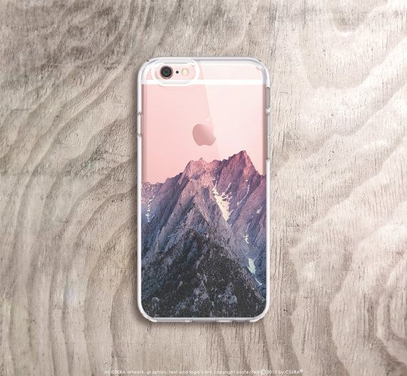 Mountain iPhone 6 Case Clear iPhone 5 Case by casesbycsera on Etsy