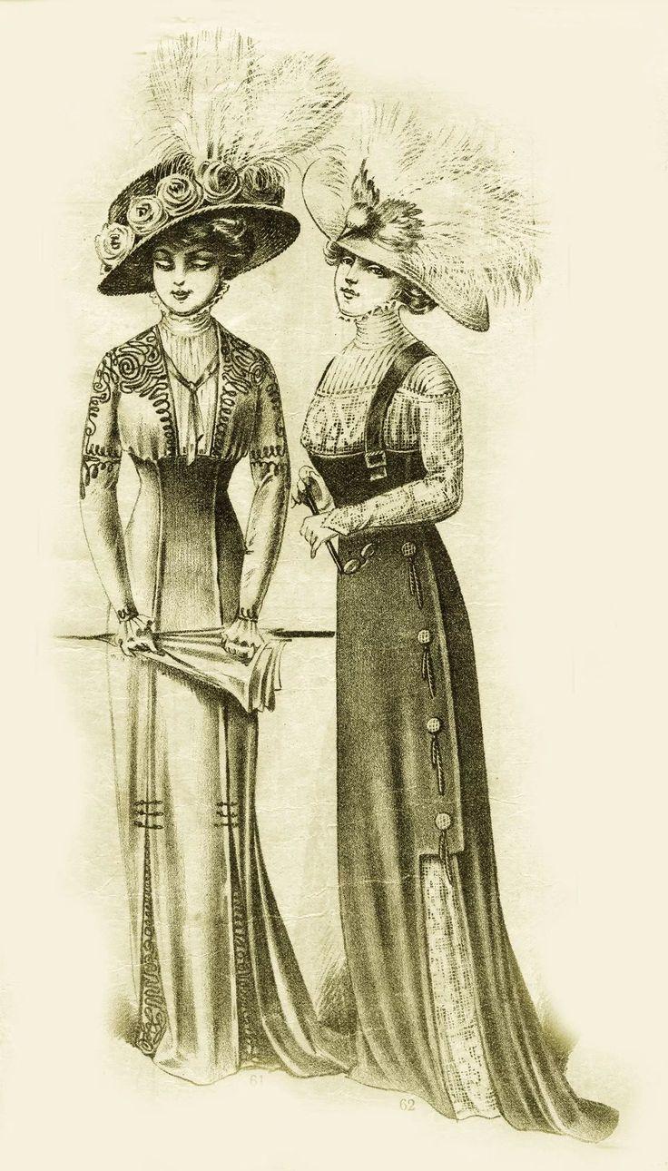 Открытки на женские костюмы