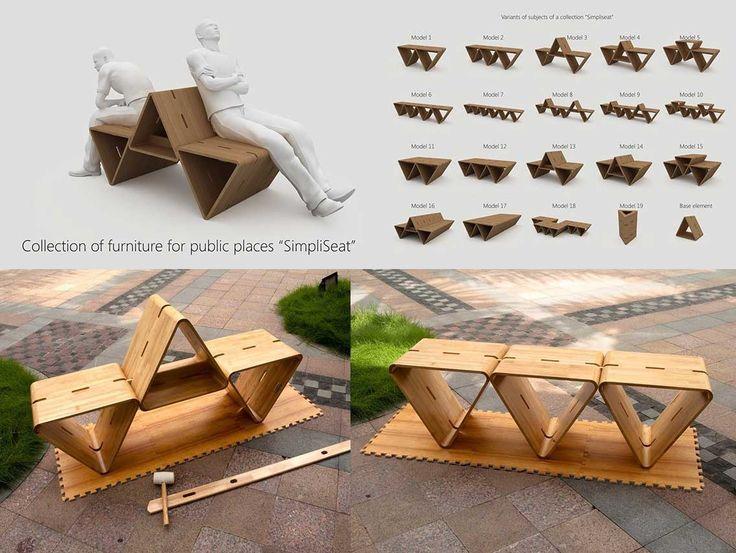 197 best urban mobel images on pinterest street furniture urban furniture and landscape. Black Bedroom Furniture Sets. Home Design Ideas