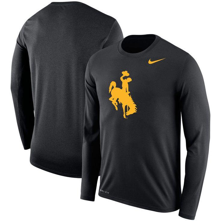Wyoming Cowboys Nike Legend Long Sleeve T-Shirt - Black