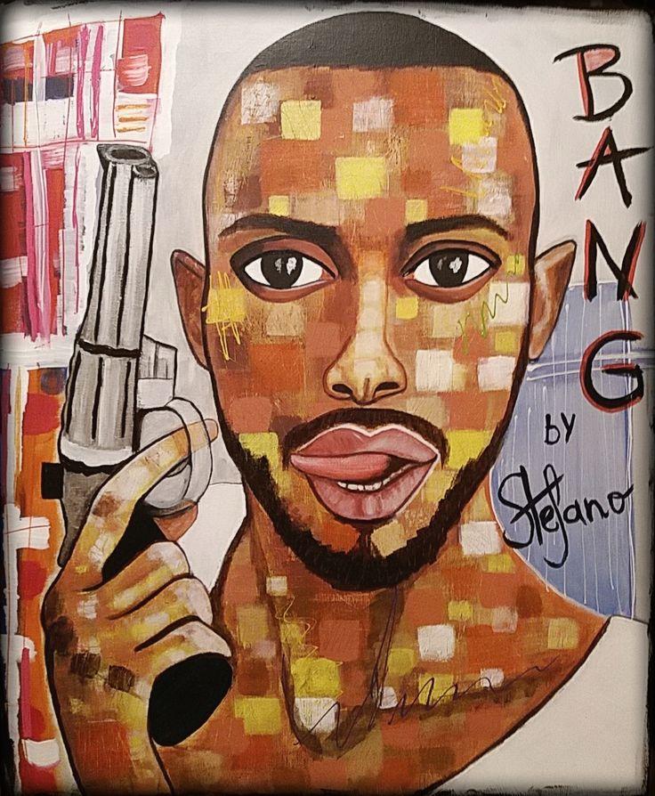"Bang! by STEFANO ""the guys on instagram""2015 acrylic on canvas(50x60cm) model:Jonathan Davy acrylic,painting,portrait,painter,fashion art,faces,modernpainting,fineart,artist,"