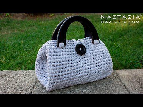 DIY Tutorial - Crochet Easy Casual Friday Handbag with Lining - Lined Purse Bag Bolsa - YouTube
