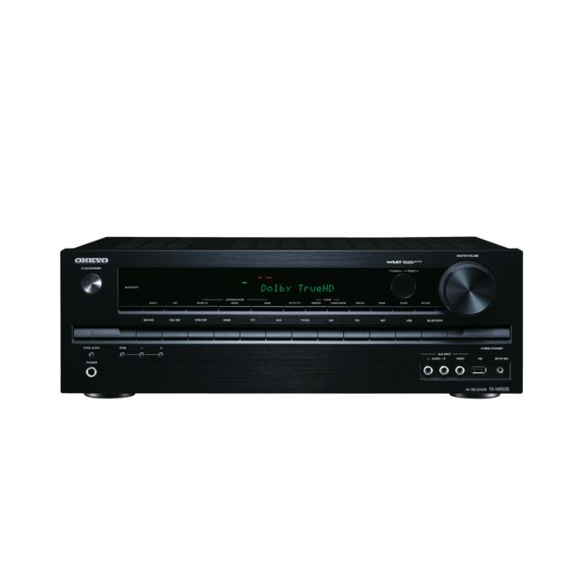 ONKYO TX-NR535 5.2-CHANNEL NETWORK A/V RECEIVER  Packing 5.2 channels of pure Onkyo muscle, your 60 fps Ultra HD gaming or movie experience comes to life with the TX-NR535. Seven 4K/60 Hz-ready HDMI® 2.0 terminals, inbuilt Wi-Fi® for hi-res audio streaming, onboard Bluetooth, and all the leading internet streaming services pre-loaded—this powerful entertainment hub is ready for anything. To deliver authentic hi-fi performance, the TX-NR535 features a high-current power supply, discrete…