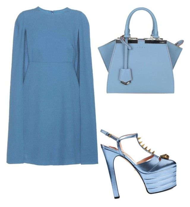 Untitled #136 by mariajimenez-2 on Polyvore featuring polyvore fashion style Valentino Gucci Fendi clothing