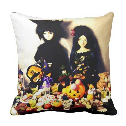 old halloween photo throw pillow - home gifts ideas decor special unique custom individual customized individualized