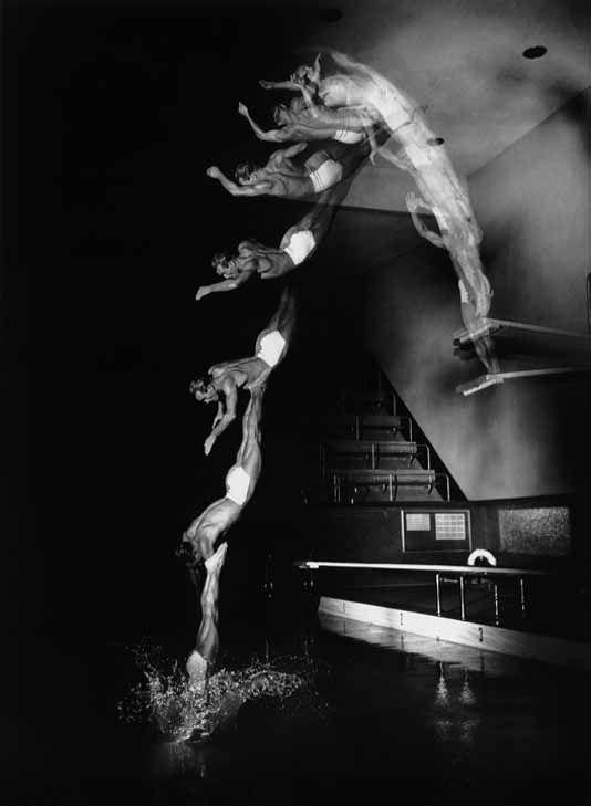 "Desjardin, Dive, 1940. Multiflash athletic photographs by Harold ""Doc"" Edgerton."