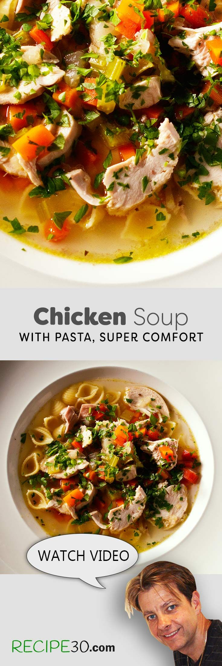 Chicken Noodle Soup The best comfort food, simple to make