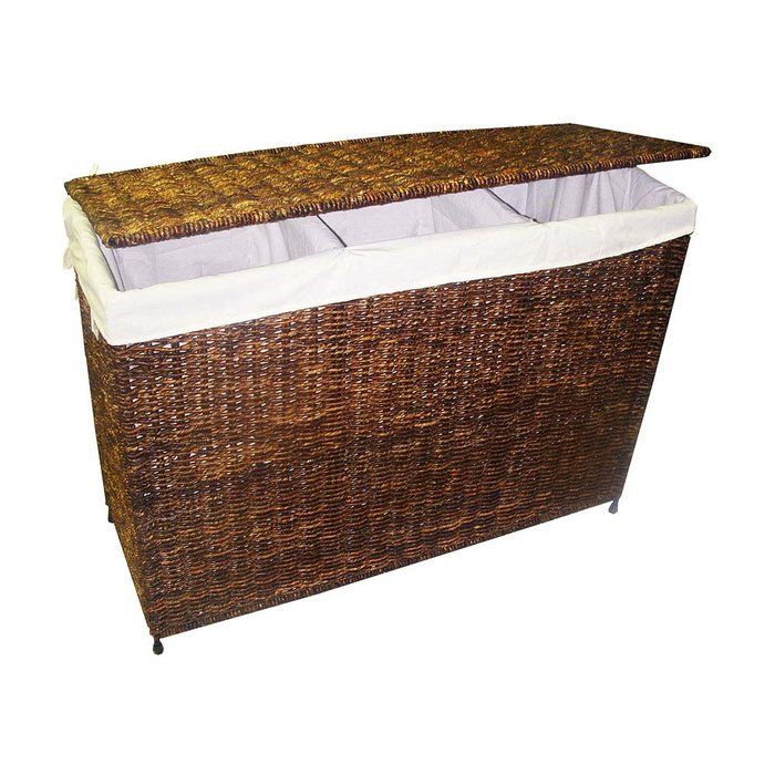Woven 3 Section Hamper With Liner This Would Look Much