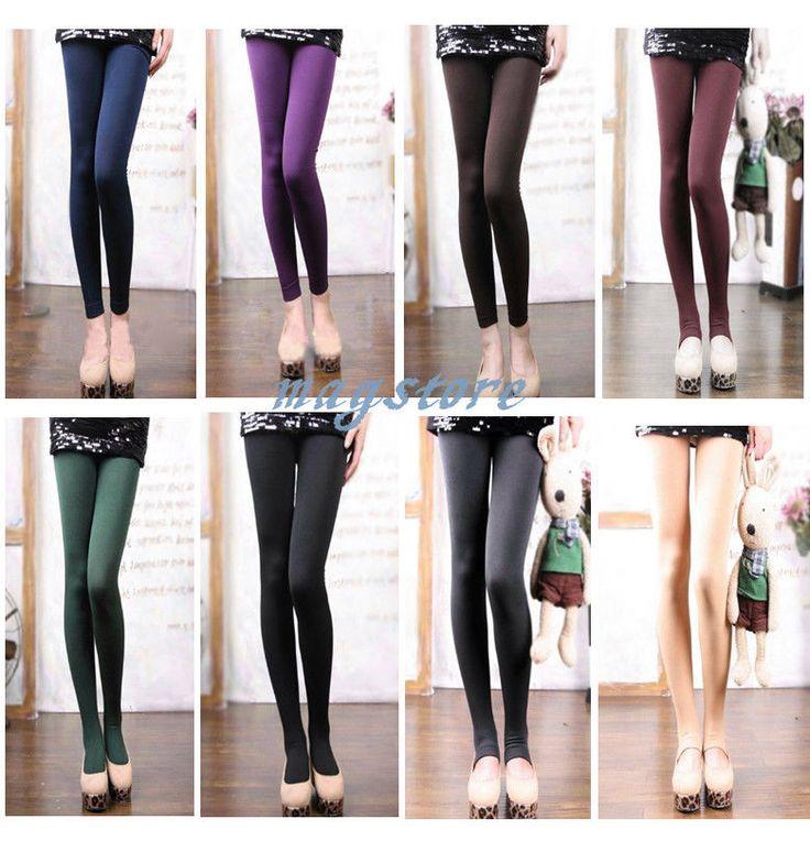 8 Farbe Damen Winter Warme Strumpfhosen Stirrup Tights Leggings Strumpf Hosen