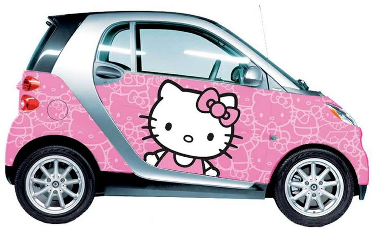 Pink car hello kitty design with pink sparkles auto