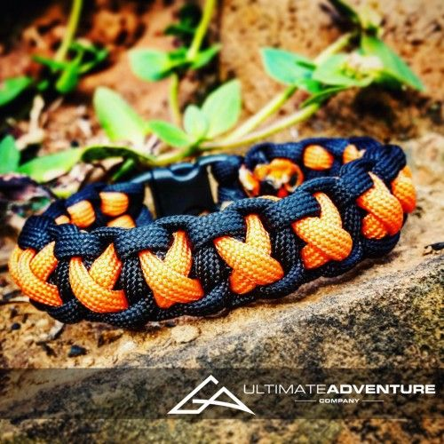 Orange and Black Cross Thread Paracord Survival Bracelet from www.ultimateadventures.co.za  #orange #black #crossthread #cross #bracelet #paracord #paracord550 #paracordsurvival #paracordsurvivalbracelet #survival #paracordporn #outdoorgear #survivalbracelet #survivalparacord #survivaladventure #edc #everydaycarry #adventure #survivalgear #adventuregear #adventurebracelet #ultimateadventure #ultimateadventureco #ultimateadventures #paracordon #cordcraft #craft #outdoorcraft