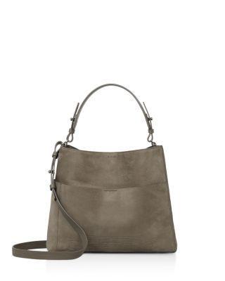 ALLSAINTS . #allsaints #bags #shoulder bags #hand bags #suede #