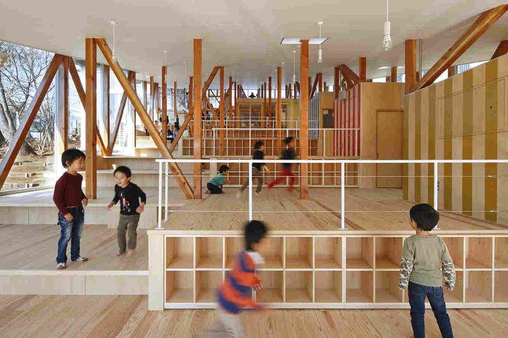 Детский сад Hakusui в Японии