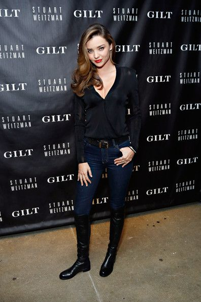 Miranda Kerr - Gilt and Stuart Weitzman Celebrate the 5050 Boot Love her style!