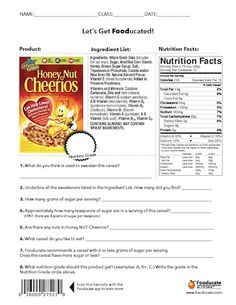 how to read food labels for kids