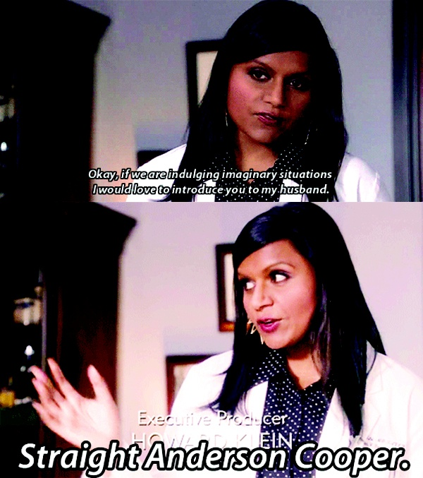 The Mindy Project I literally laughed out loud when this scene came up - one of the best moments of mindy project :)