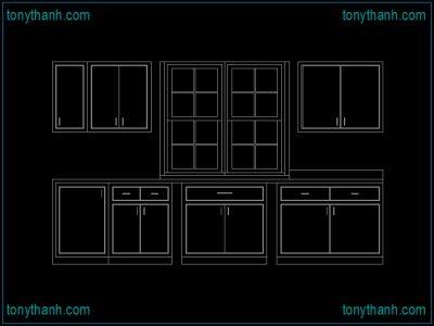 Beautiful kitchen cabinet cad block autocad drawing sample