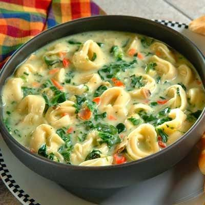 The Best Healthy Recipes: Tortellini Spinach Soup. Tortellini Spinach Soup is quick and easy and an excellent choice for a light lunch, dinner or first course!