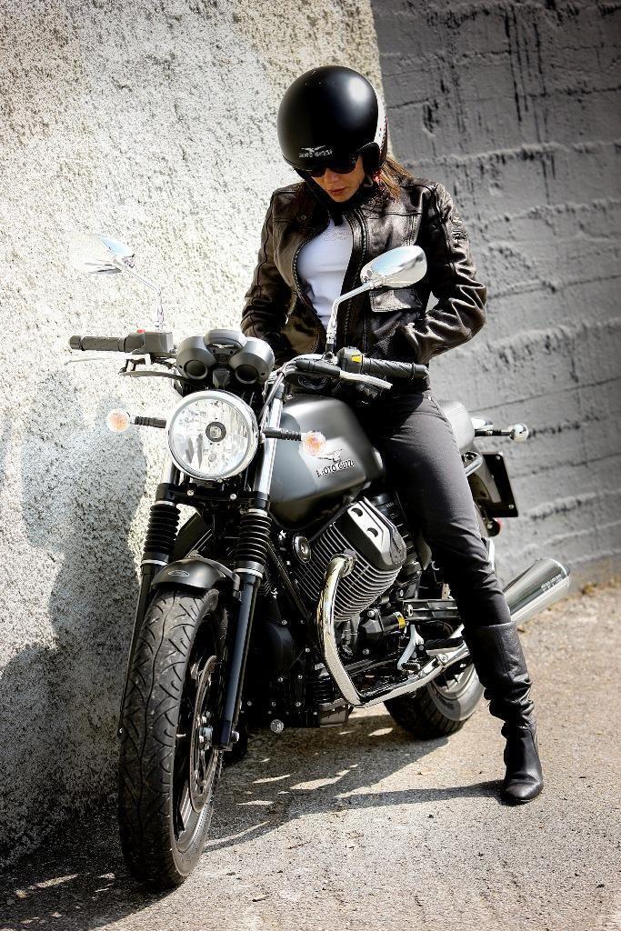 Moto Guzzi girl.