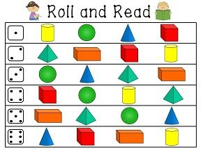 Roll and Read 3d shapes! & more!
