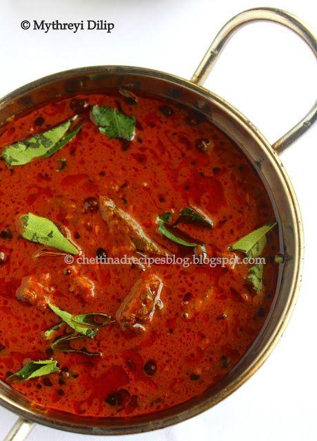 Vatha Kuzhambu - Manathakkali Kulambu recipe | Chettinad Recipes