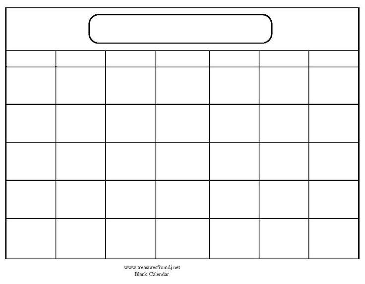 Blank Calendar Template Kids - Let the kids make their own calendars ...