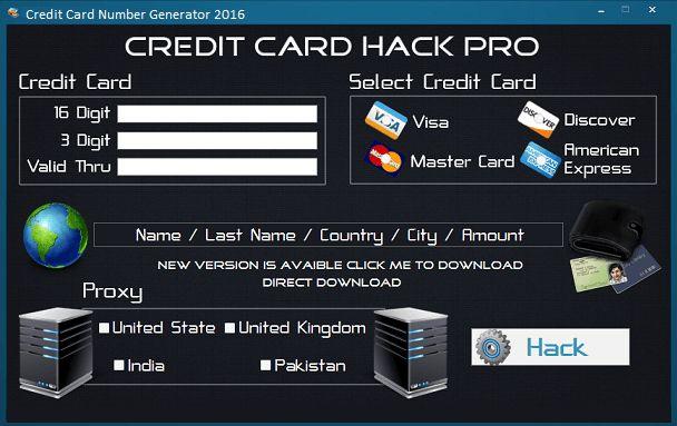 Credit Card Number Generator+Validator 2016 | www.HacksWork.com