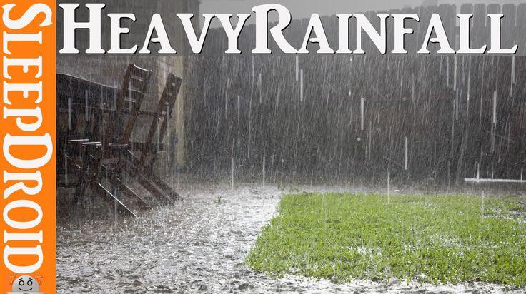 ►☂ 10 Hours of heavy rainfall ~ hard rain sleep sounds. Soothing ambient...