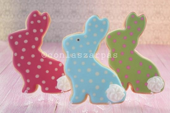 Conejos de Pascua: Ambientaciones Dulces, Easter Cakes, Galletas Pascua, Rabbits, Sweet Easter, Easter, Decorated Cookies, Cookies Ñam
