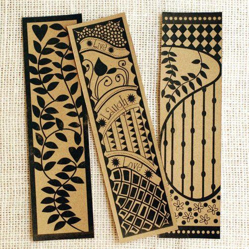 easypapercrafts.com-Zentangle inspired free bookmark printables- click on the download link in pink under the image! save as!